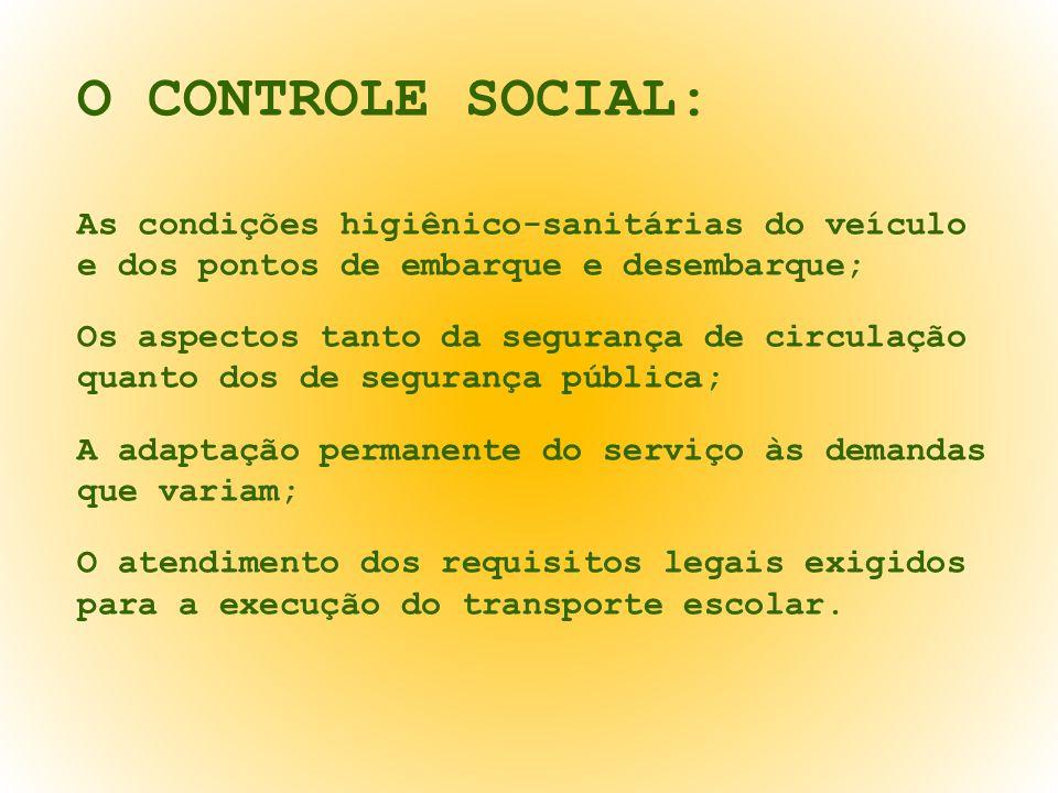 O CONTROLE SOCIAL: