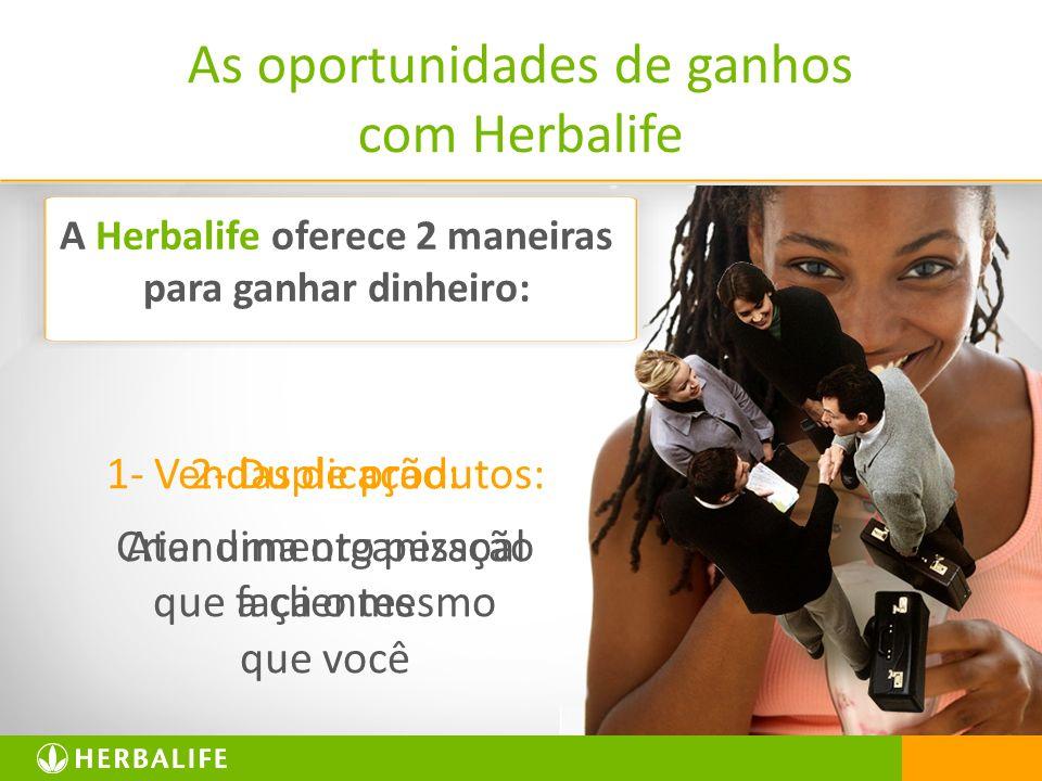 A Herbalife oferece 2 maneiras