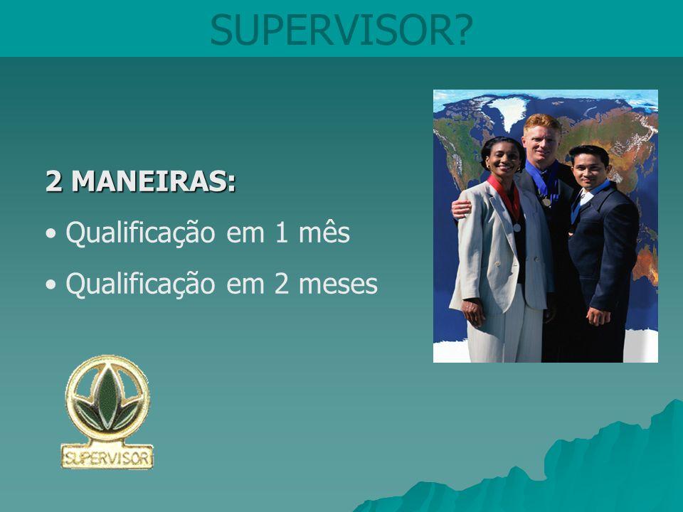SUPERVISOR 2 MANEIRAS: Qualificação em 1 mês Qualificação em 2 meses