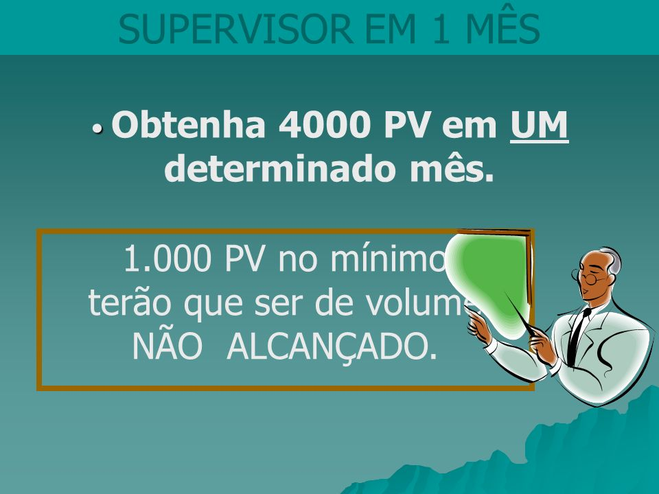 Obtenha 4000 PV em UM determinado mês.