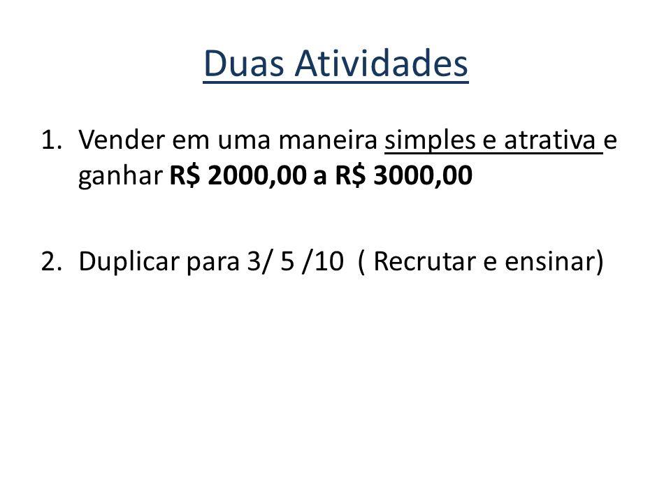 Duas Atividades Vender em uma maneira simples e atrativa e ganhar R$ 2000,00 a R$ 3000,00.