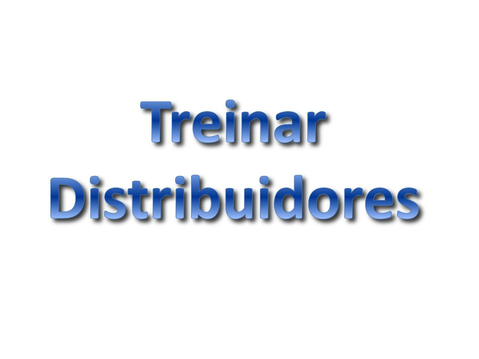 Treinar Distribuidores