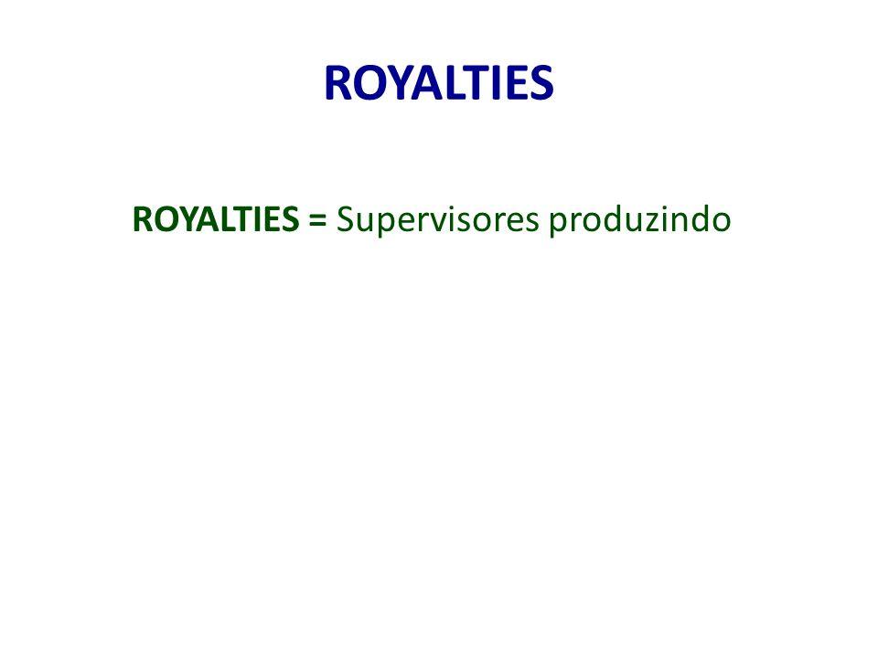 ROYALTIES = Supervisores produzindo