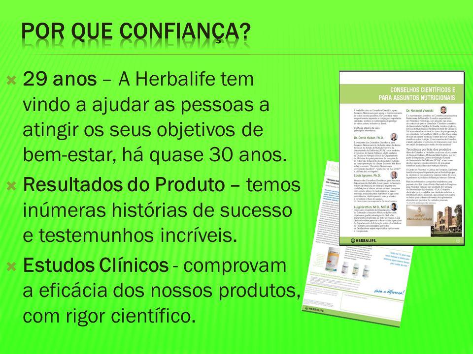 Por que Confiança 29 anos – A Herbalife tem vindo a ajudar as pessoas a atingir os seus objetivos de bem-estar, há quase 30 anos.