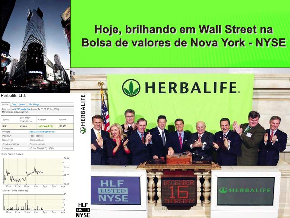 Hoje, brilhando em Wall Street na Bolsa de valores de Nova York - NYSE