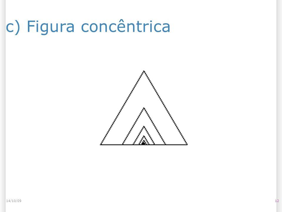 14/10/09 c) Figura concêntrica 14/10/09 12