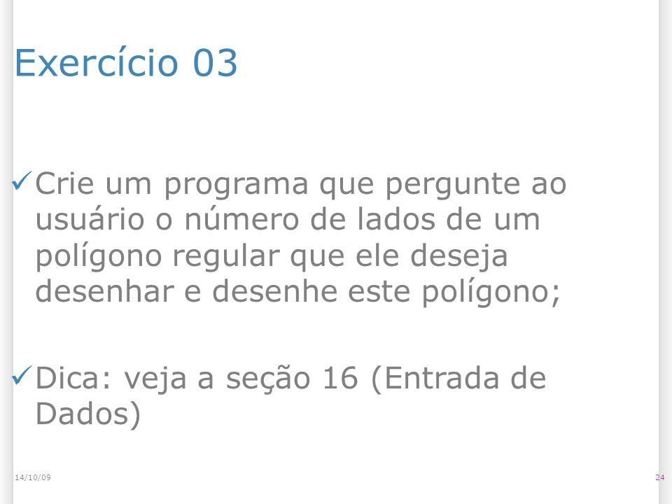 14/10/09Exercício 03.