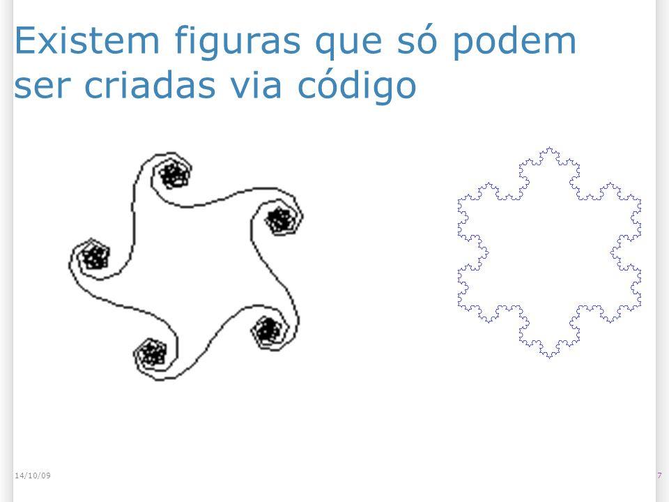 Existem figuras que só podem ser criadas via código
