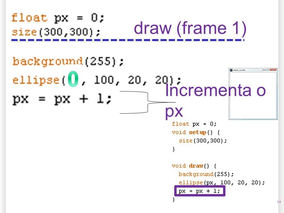 14/10/09 draw (frame 1) Incrementa o px 14