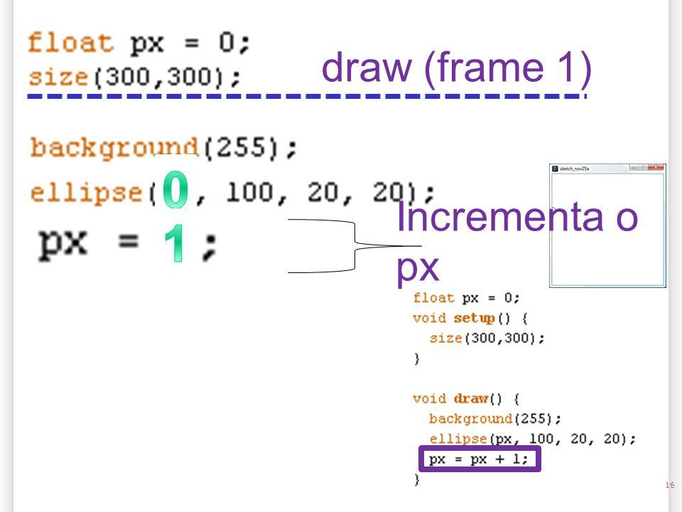 14/10/09 draw (frame 1) Incrementa o px 1 16