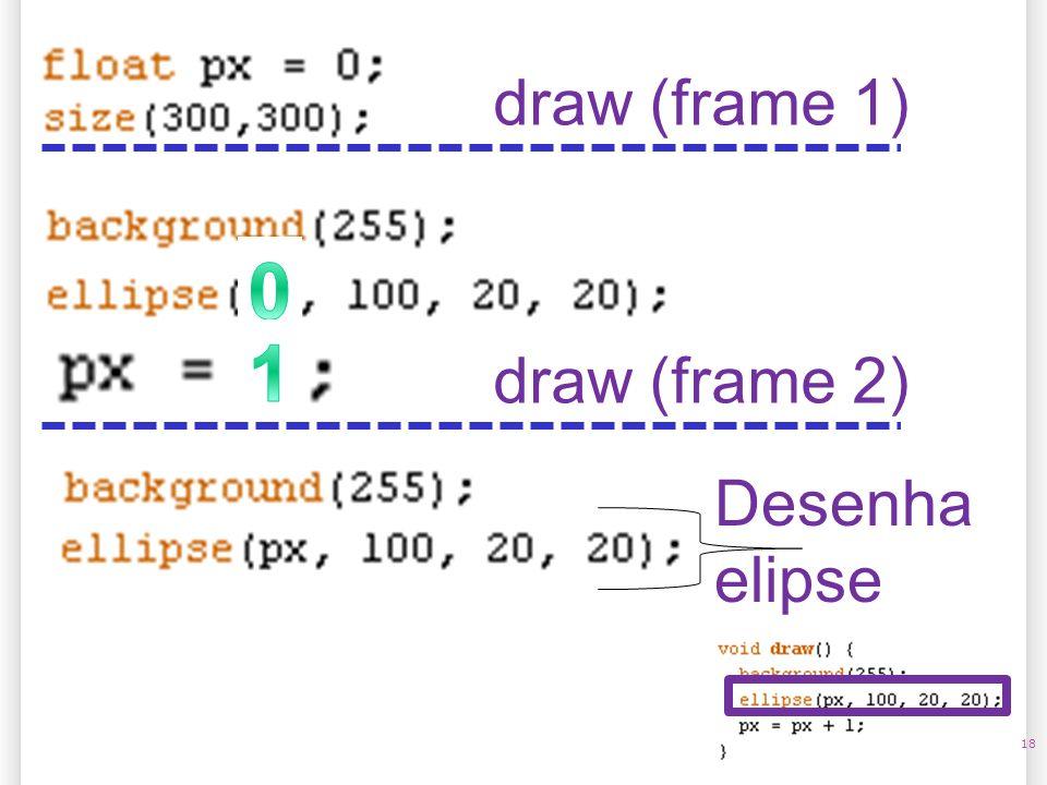 14/10/09 draw (frame 1) 1 draw (frame 2) Desenha elipse 18