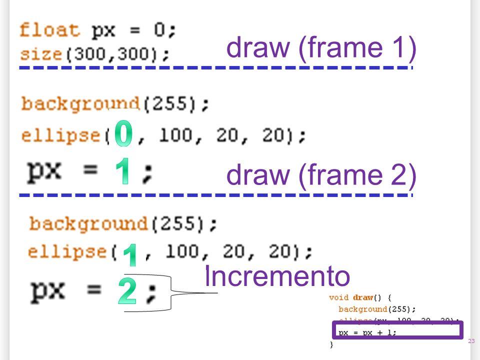 14/10/09 draw (frame 1) 1 draw (frame 2) 1 Incremento 2 23
