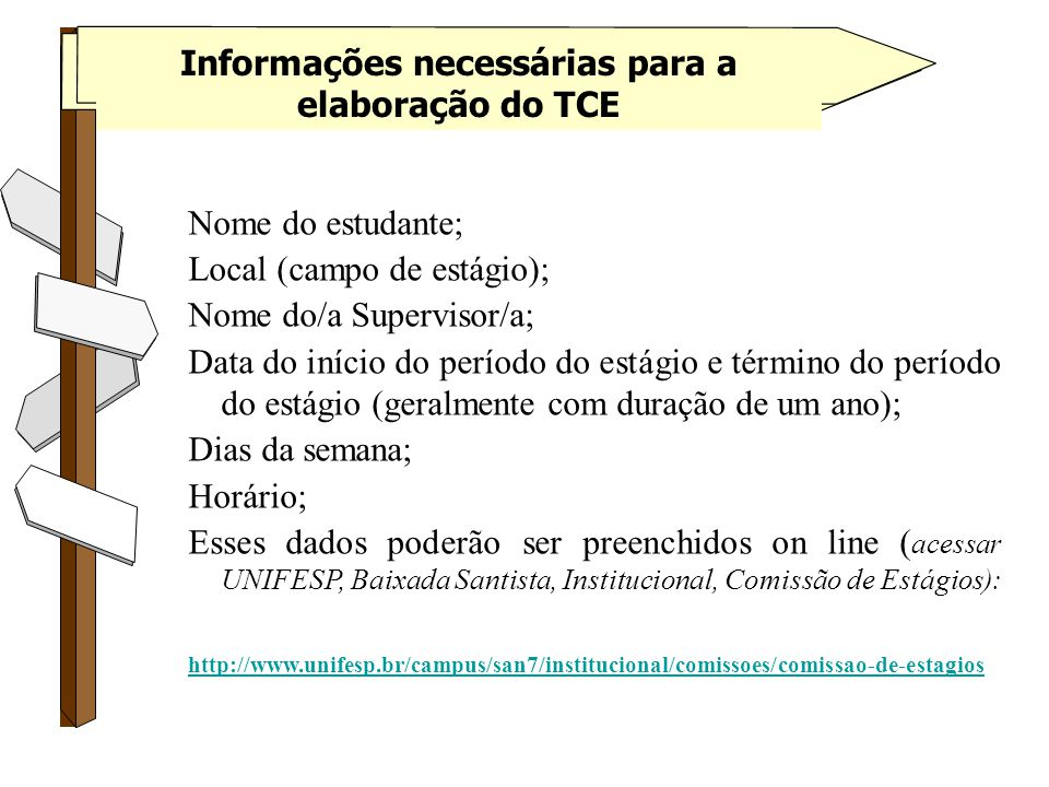 Informações necessárias para a elaboração do TCE