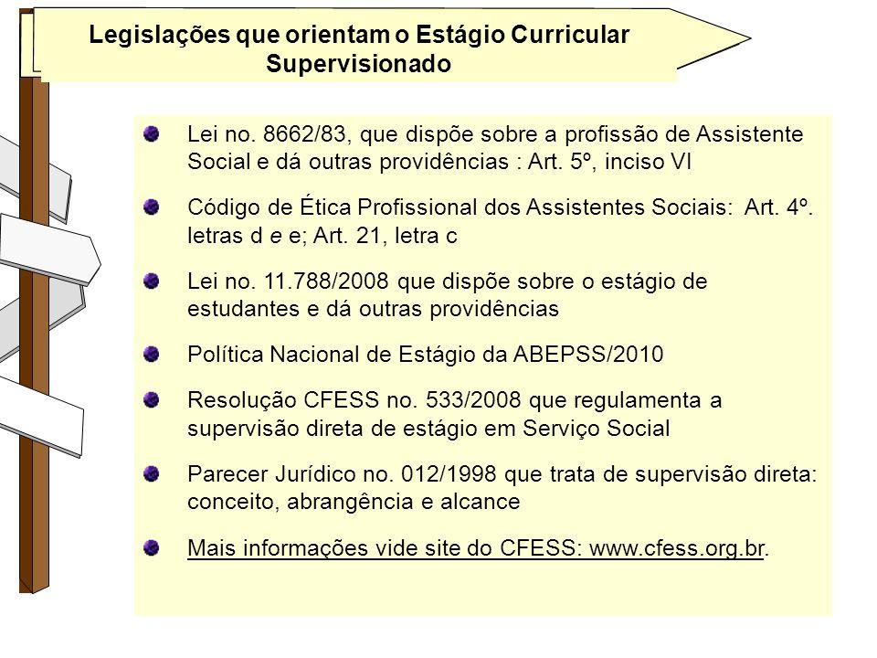 Legislações que orientam o Estágio Curricular Supervisionado