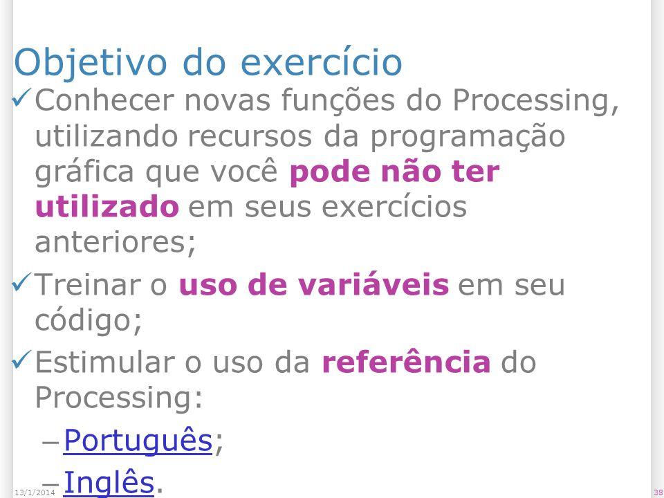 Objetivo do exercício