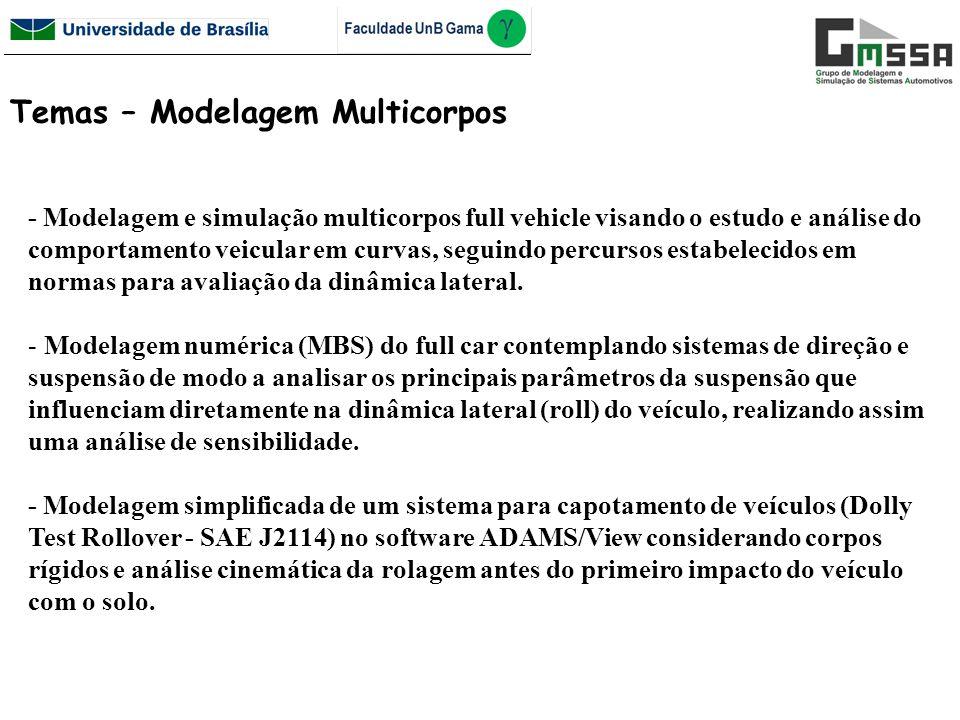 Temas – Modelagem Multicorpos