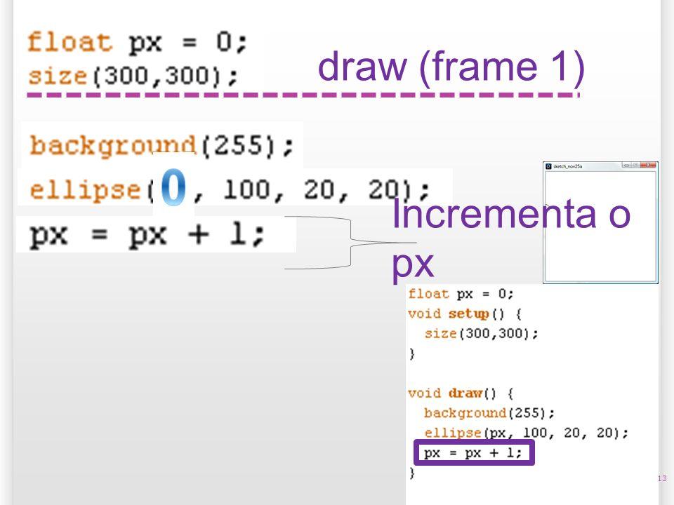 14/10/09 draw (frame 1) Incrementa o px 13