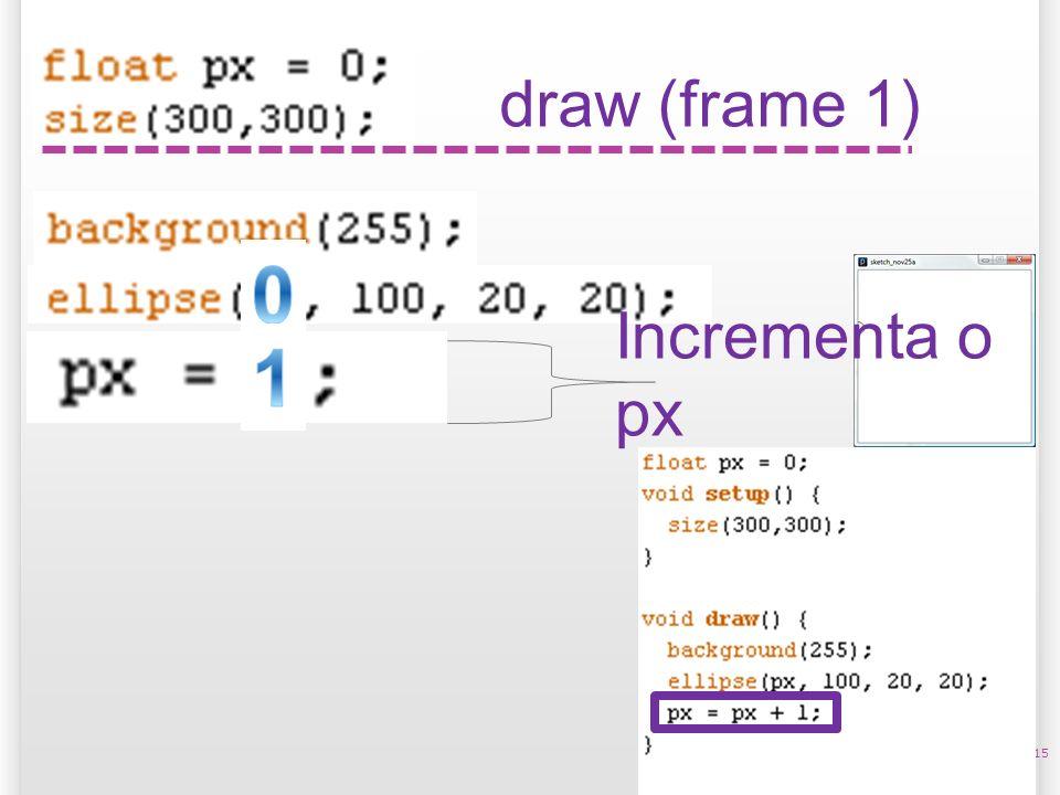 14/10/09 draw (frame 1) Incrementa o px 1 15