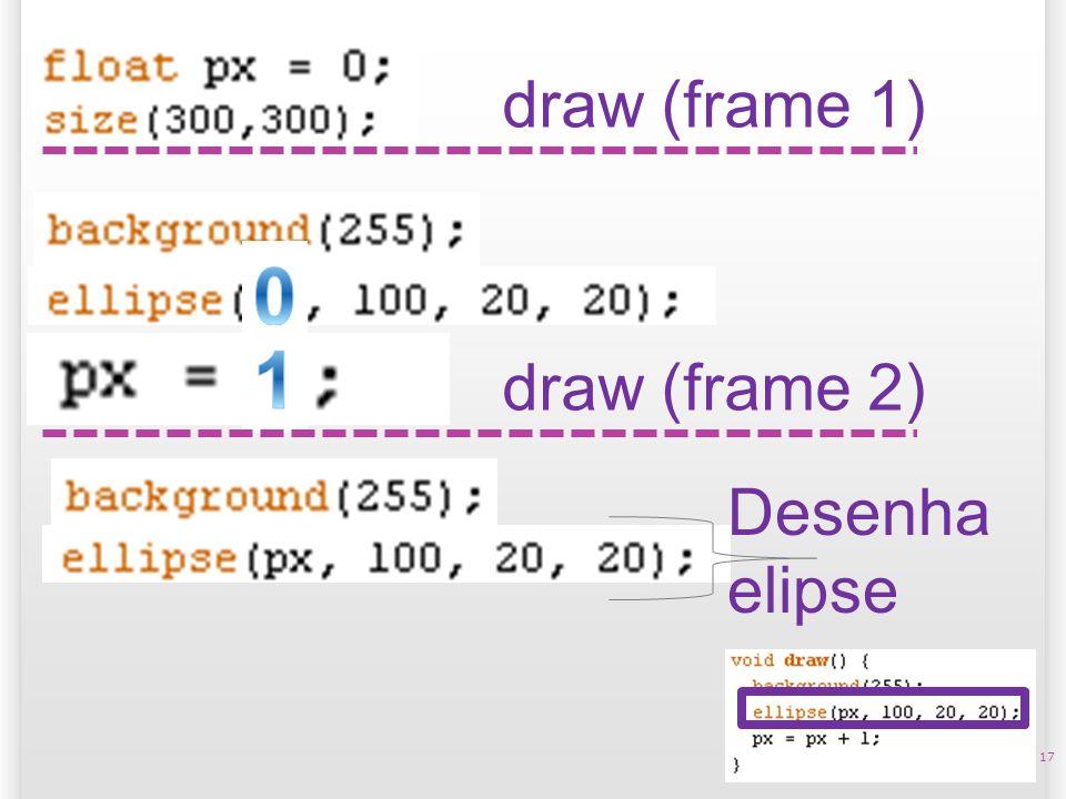 14/10/09 draw (frame 1) 1 draw (frame 2) Desenha elipse 17