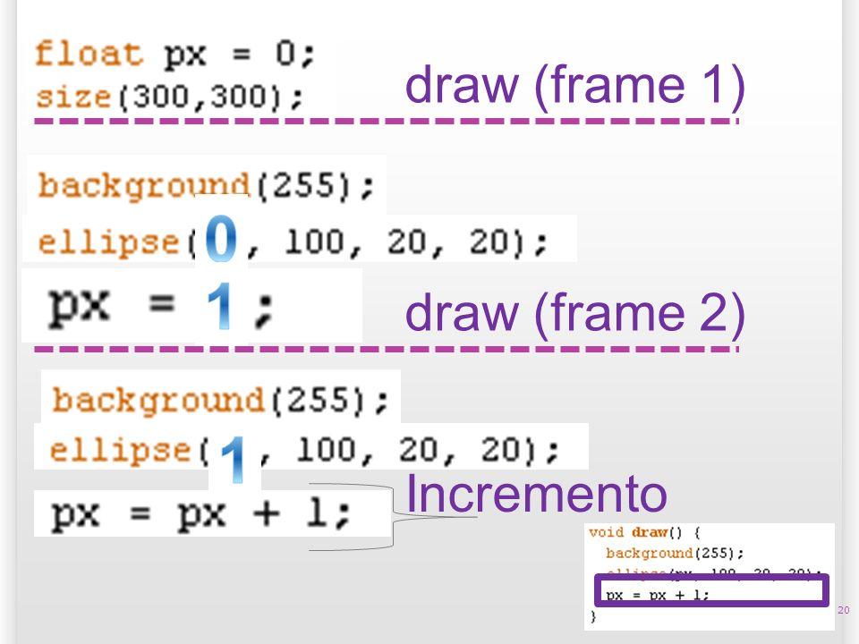 14/10/09 draw (frame 1) 1 draw (frame 2) 1 Incremento 20