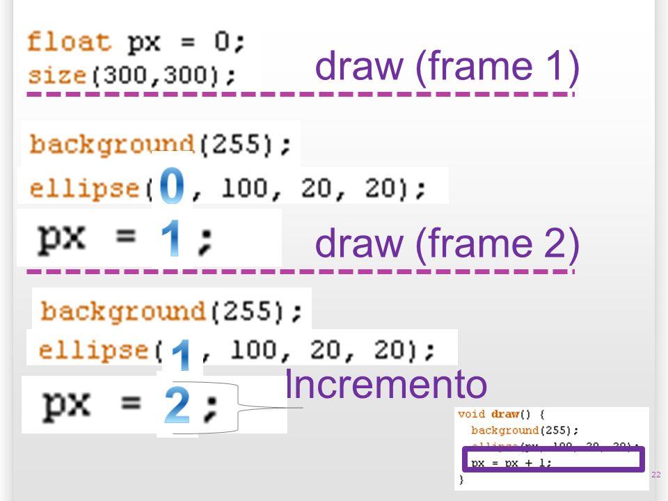 14/10/09 draw (frame 1) 1 draw (frame 2) 1 Incremento 2 22