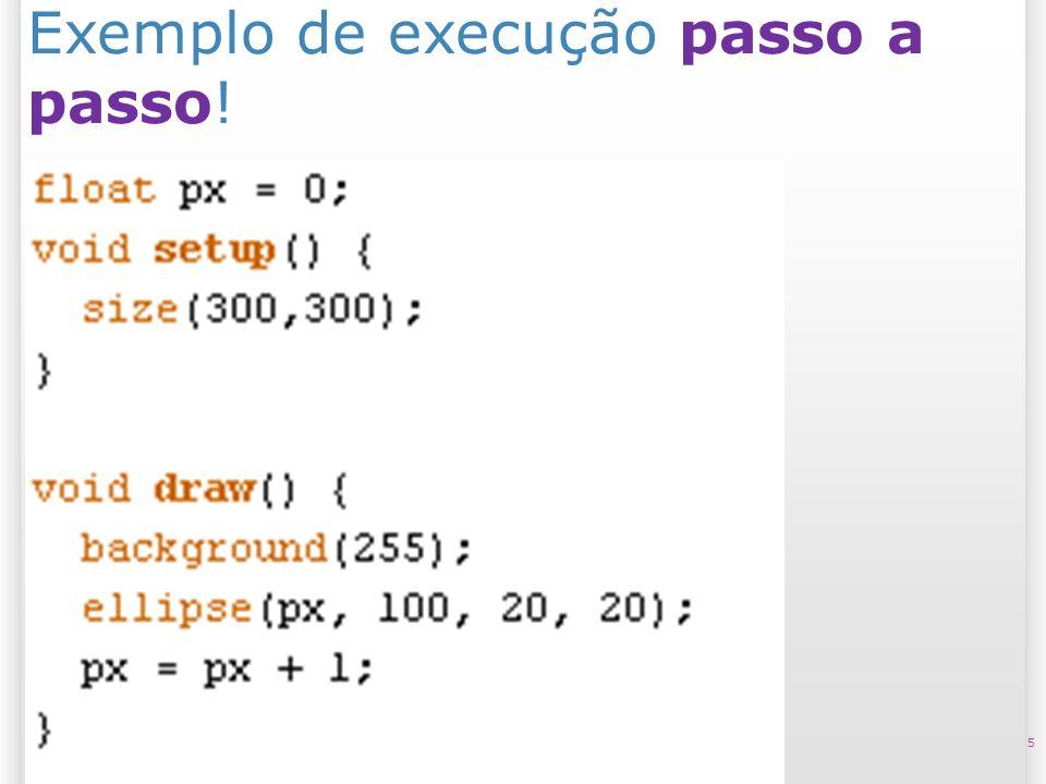 Exemplo de execução passo a passo!