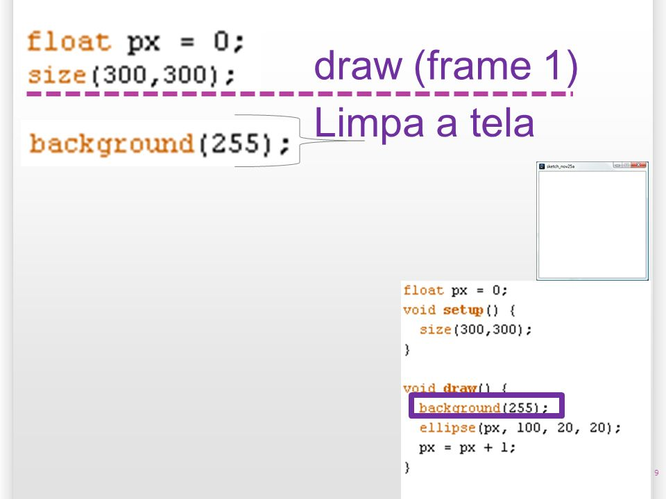 14/10/09 draw (frame 1) Limpa a tela 9