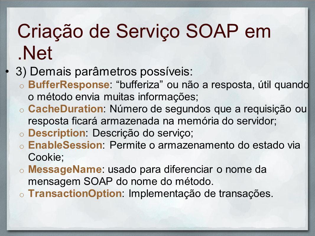 Criação de Serviço SOAP em .Net