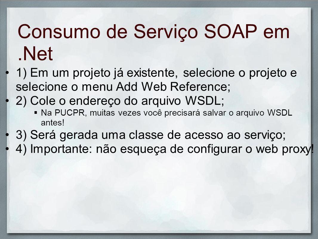 Consumo de Serviço SOAP em .Net