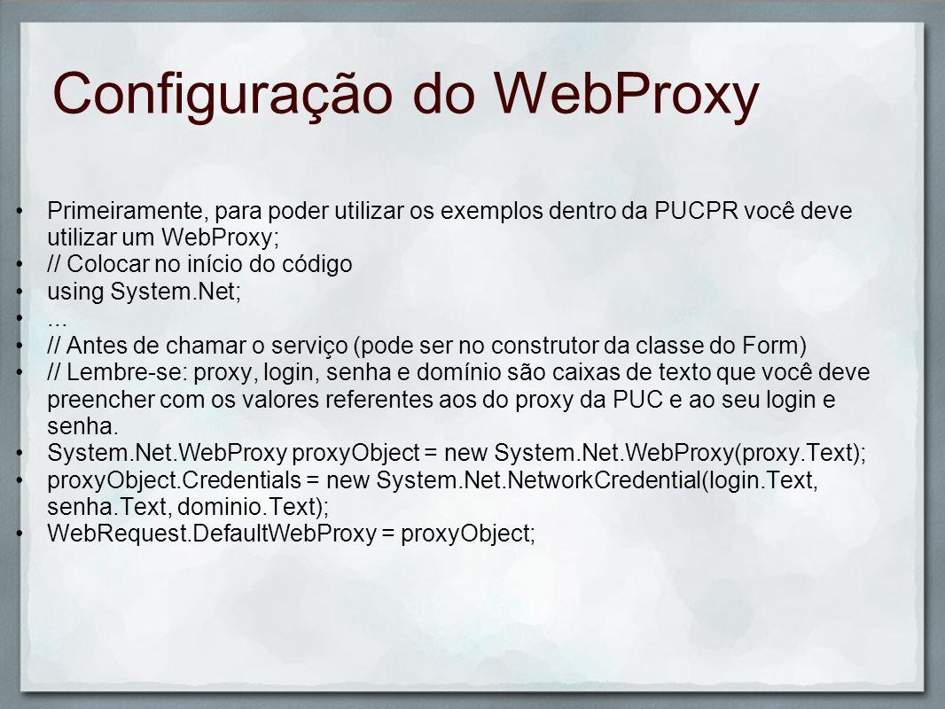 Configuração do WebProxy