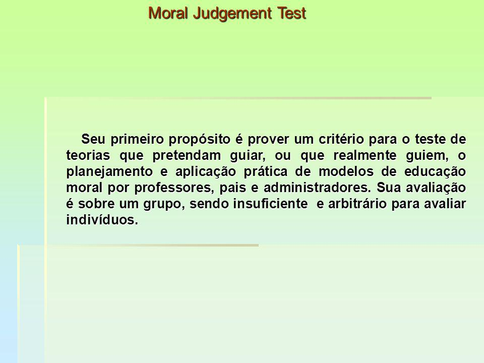 Moral Judgement Test