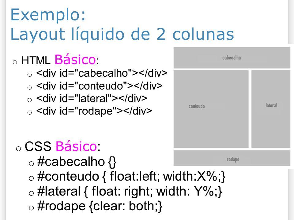 Layout líquido de 2 colunas
