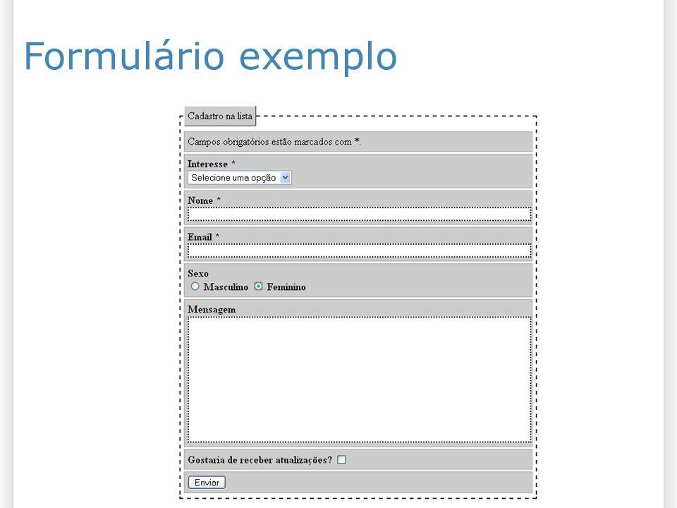 Formulário exemplo 27/10/09