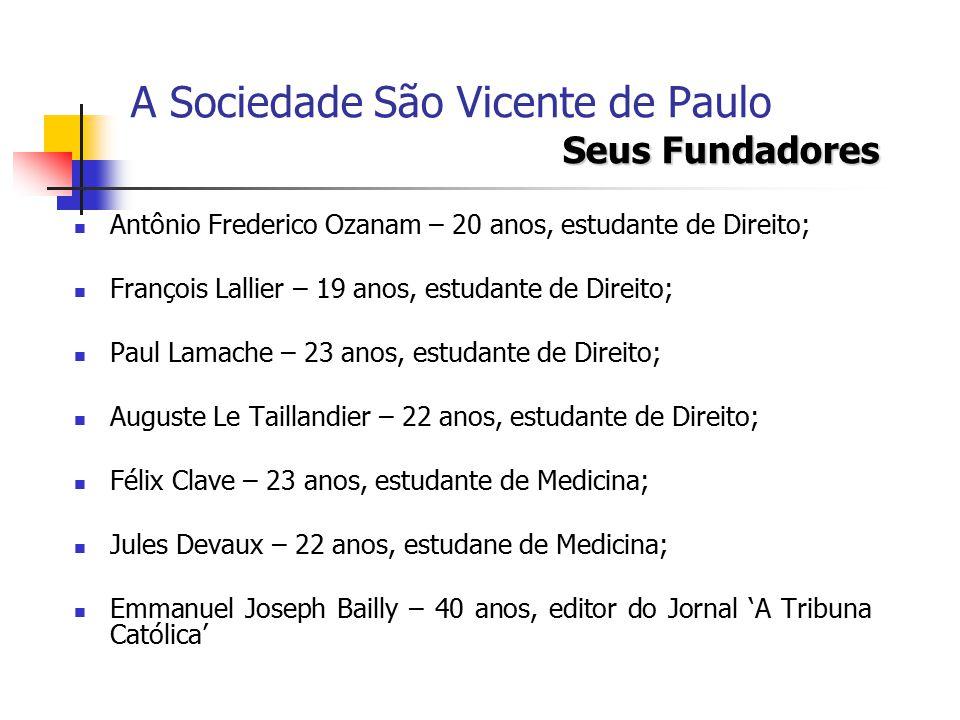 A Sociedade São Vicente de Paulo Seus Fundadores
