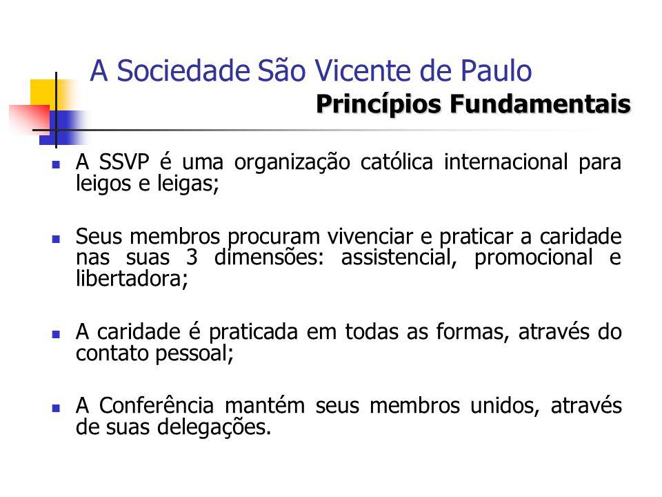 A Sociedade São Vicente de Paulo Princípios Fundamentais