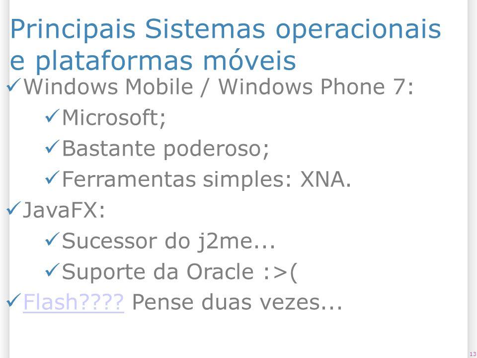 Principais Sistemas operacionais e plataformas móveis