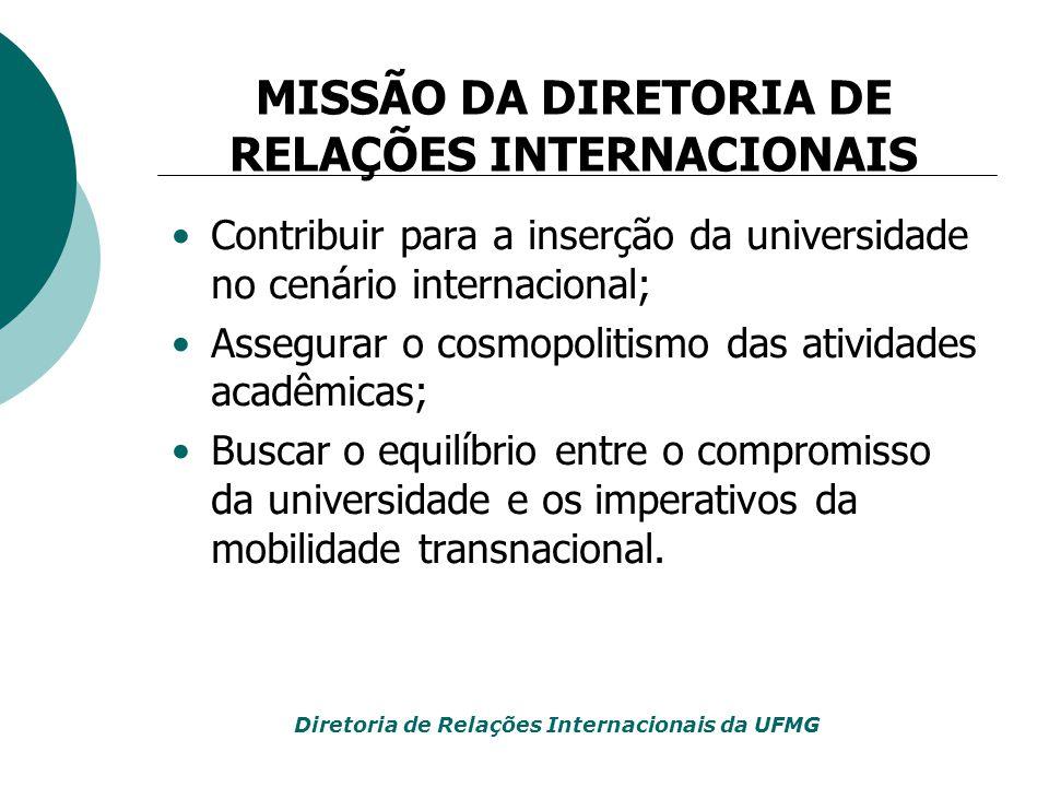 MISSÃO DA DIRETORIA DE RELAÇÕES INTERNACIONAIS