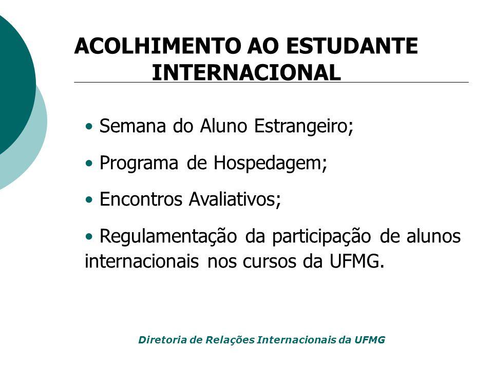 ACOLHIMENTO AO ESTUDANTE INTERNACIONAL