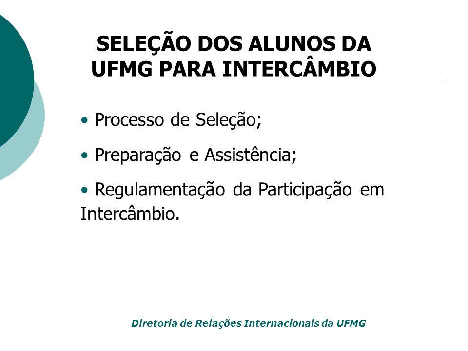 SELEÇÃO DOS ALUNOS DA UFMG PARA INTERCÂMBIO