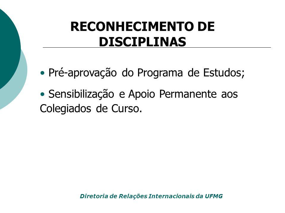 RECONHECIMENTO DE DISCIPLINAS