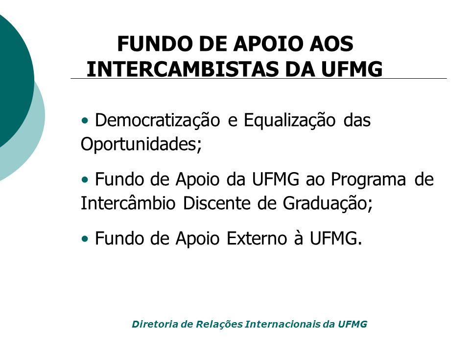 FUNDO DE APOIO AOS INTERCAMBISTAS DA UFMG