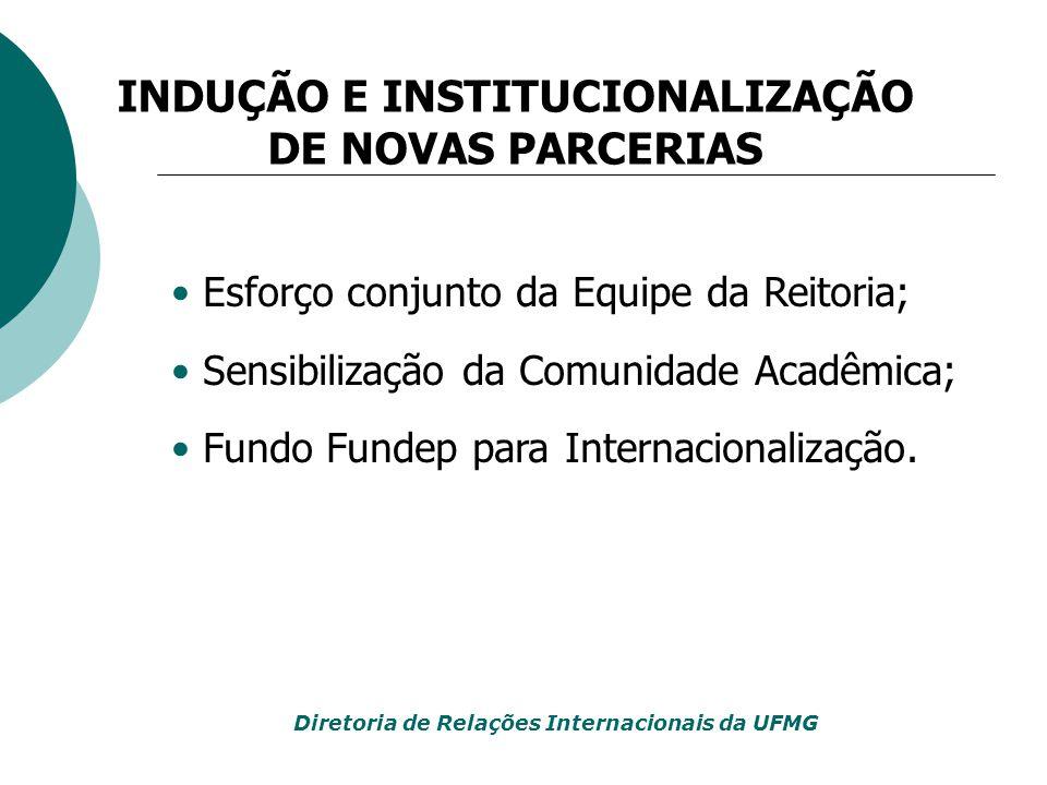 INDUÇÃO E INSTITUCIONALIZAÇÃO DE NOVAS PARCERIAS