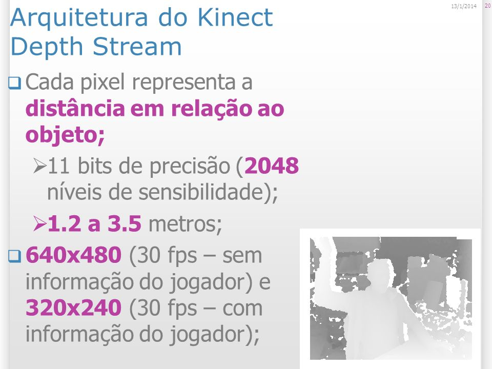 Arquitetura do Kinect Depth Stream