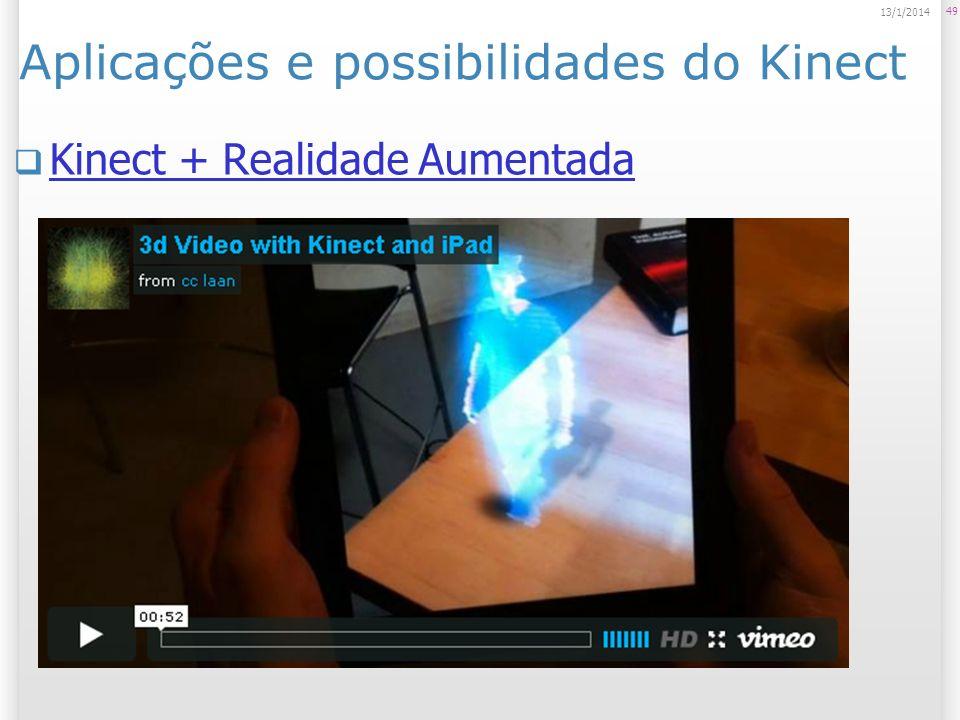 Aplicações e possibilidades do Kinect