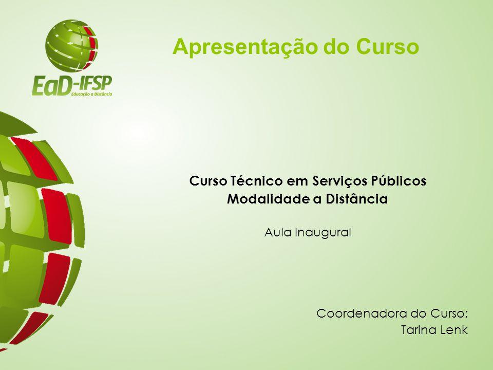 Curso Técnico em Serviços Públicos Modalidade a Distância