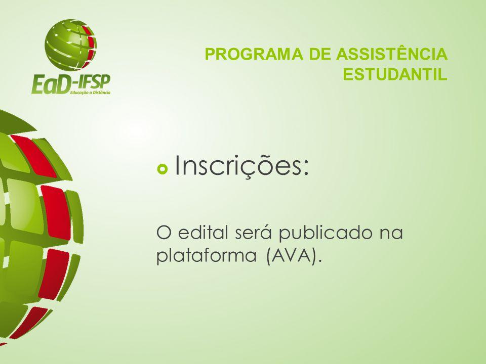 PROGRAMA DE ASSISTÊNCIA ESTUDANTIL