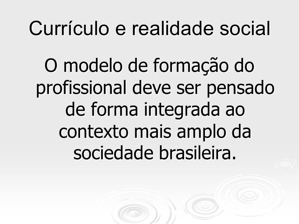 Currículo e realidade social