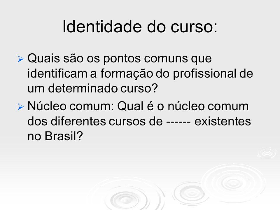 Identidade do curso: Quais são os pontos comuns que identificam a formação do profissional de um determinado curso