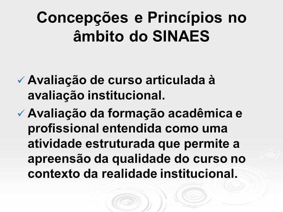 Concepções e Princípios no âmbito do SINAES