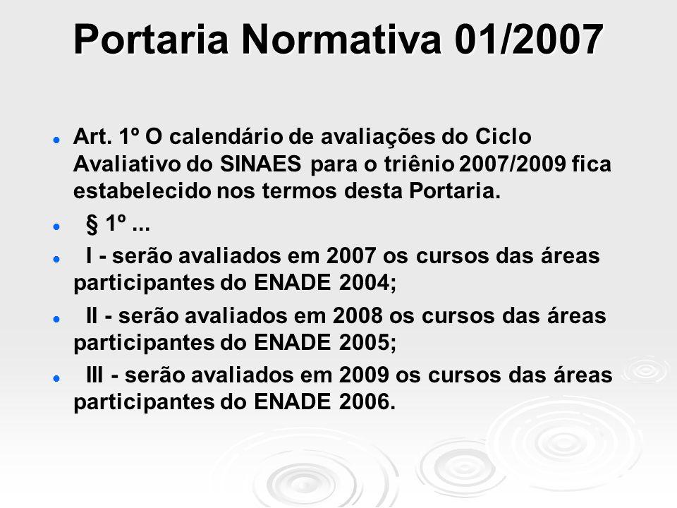 Portaria Normativa 01/2007